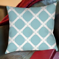 Modern Geometric Robin Egg Printed Throw Pillow