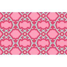 Francie Trellis Pink Geometric Area Rug
