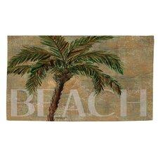 Beach Palm Green/Sand Area Rug