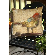 Bird of Collage 2 Indoor/Outdoor Throw Pillow