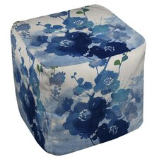 Streams of Blues Ottoman