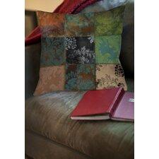 Velvet Patch Printed Throw Pillow