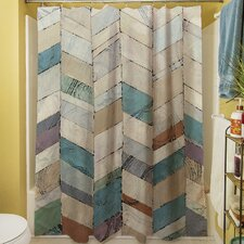 Chevron Overlay II Shower Curtain