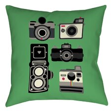 Cameras Printed Throw Pillow