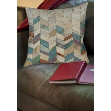 Chevron Overlay II Printed Throw Pillow