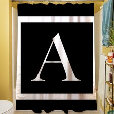 Classic Block Monogram Shower Curtain