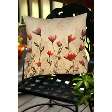 Floral Paisley Stems Indoor/Outdoor Throw Pillow