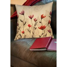Floral Paisley Stems Printed Throw Pillow