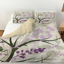 Lavender and Sage Flourish Duvet Cover