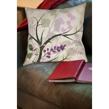 Lavender and Sage Flourish Printed Throw Pillow