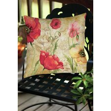 Large Poppy Heads Indoor/OutdoorThrow Pillow