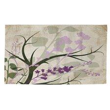 Lavender and Sage Flourish Cream Area Rug