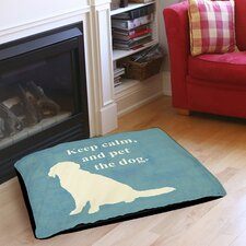 Keep Calm and Pet the Dog Indoor/Outdoor Pet Bed