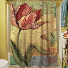 Sketchbook Floral Tulip Shower Curtain