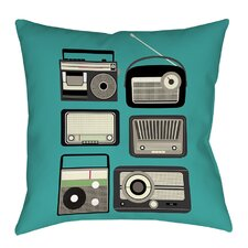 Radios Printed Throw Pillow