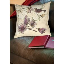Rosette Bird Printed Throw Pillow