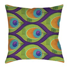 Peacock Pattern 10 Printed Throw Pillow