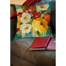 Flower Power 1 Printed Throw Pillow