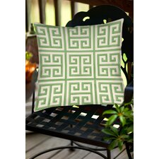 Greek Key 2 Indoor/Outdoor Throw Pillow