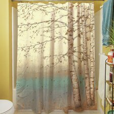 Golden Birch I Shower Curtain