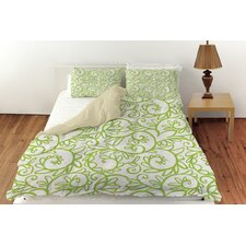 Funky Florals Swirl Pattern Duvet Cover Collection
