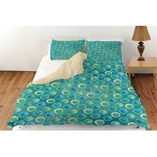 Aqua Bloom Dots Duvet Cover Collection