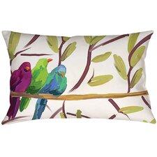 Flocked Together Birds Lumbar Throw Pillow
