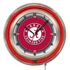 "NCAA 19"" Neon Clock"