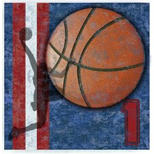 """""""Basketball Action"""" Wall Plaque"""
