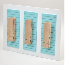 Oversized Clothes-Pin Clip Wall Plaque (Set of 3)
