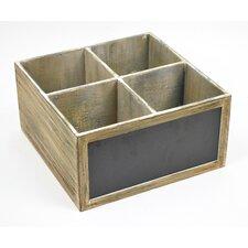 4 Compartment Wooden Storage Box