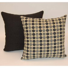 2 Piece Round Trip Knife Edge Cotton Throw Pillow Set