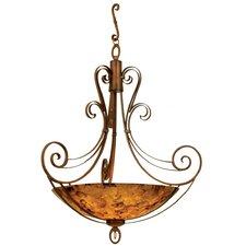Mirabelle 6 Light Bowl Inverted Pendant in Antique Copper