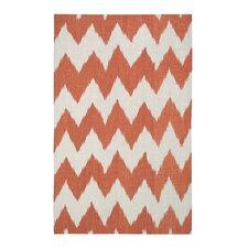 Insignia Saffron Orange/White Area Rug