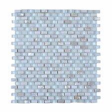 Random Sized Stone and Glass Glazed Mosaic Tile in White