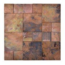 Random Sized Metal Mosaic Tile in Brown
