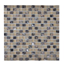 Stone and Glass Mosaic Tile in Beige