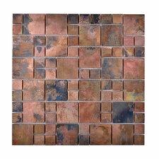 Random Sized Metal Honed Mosaic Tile in Brown