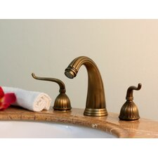 Widespread Bathroom Faucet with Double Scroll Handles