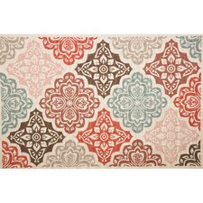Roxanne Finly Red Area Rug