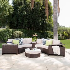 Ibarra Tortuga 8 Piece Sectional Seating Group with Ice Bucket Ottoman