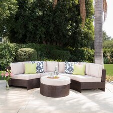 Ibarra Saint Luca 5 Piece Sectional Seating Group with Ottoman