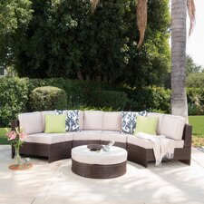 Ibarra Saint Luca 5 Piece Sectional Seating Group with Ice Bucket Ottoman