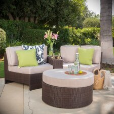 Ibarra Ibiza 4 Piece Sectional Seating Group with Ottoman
