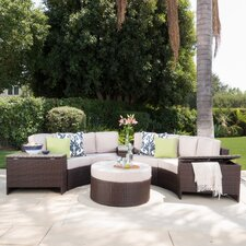Ibarra Tortuga 8 Piece Sectional Seating Group with Ottoman