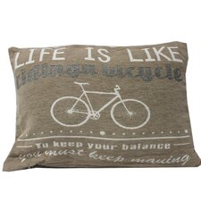 Life is Like a Bicycle Throw Pillow