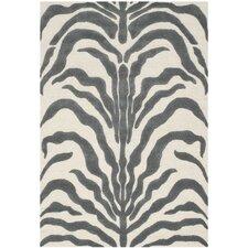 Handgetufteter Teppich Nahla in Elfenbein