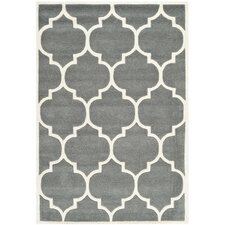 Karolyn Hand-Tufted Grey Area Rug