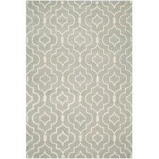 Handgetufteter Teppich Matthews in Grau