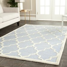 Cambridge Hand-Tufted Light Blue/Ivory Area Rug